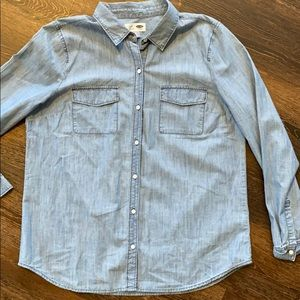 Old Navy NEW denim look button up sz large